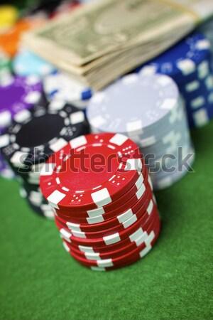 линия фишки казино карт компьютер деньги ноутбука Сток-фото © pedrosala
