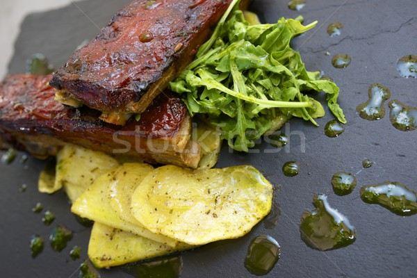 Rib with potatoes Stock photo © pedrosala