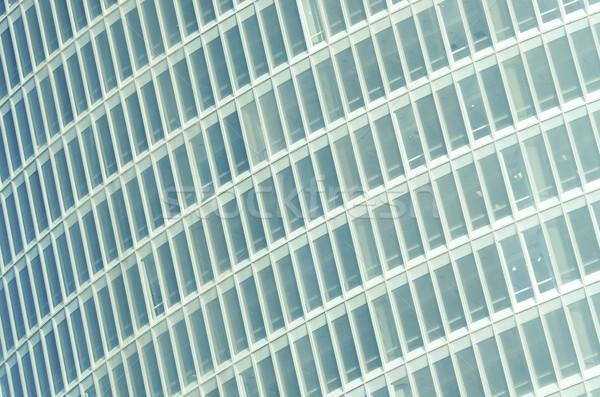 Szkła fasada wieżowiec budynku ściany zielone Zdjęcia stock © pedrosala