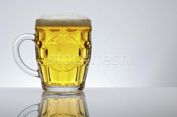 Sör bögre fehér üveg élet buborékok Stock fotó © pedrosala