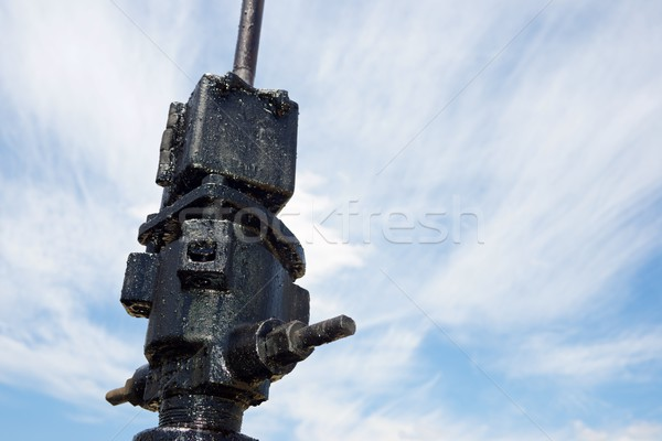 Olajkút LA égbolt munka ipar energia Stock fotó © pedrosala