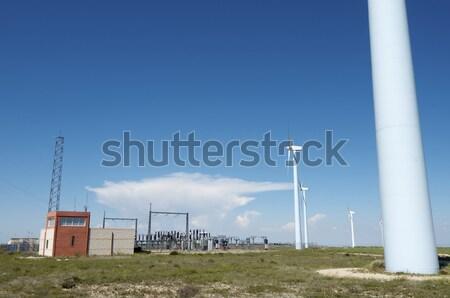 Vent énergie électriques pouvoir production électrique Photo stock © pedrosala