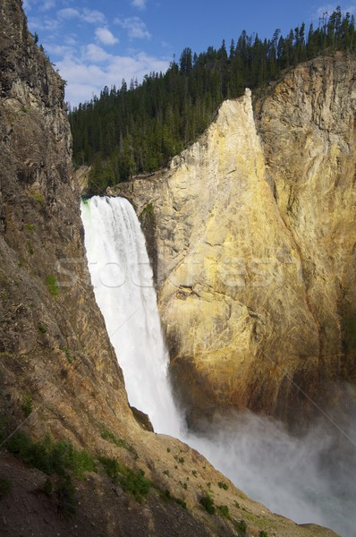 Waterfall and rainbow Stock photo © pedrosala