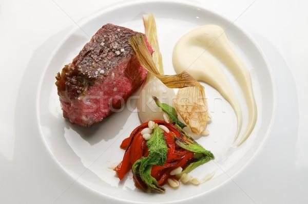 Bife vegetal enfeite saúde jantar Foto stock © pedrosala