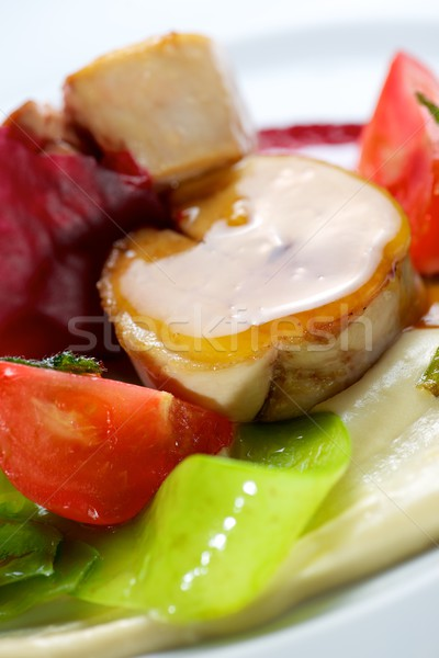 Chicken with beets Stock photo © pedrosala