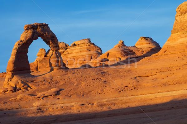 ív kilátás park Utah Egyesült Államok tájkép Stock fotó © pedrosala
