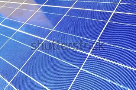 太陽光発電 パネル クローズアップ 電気 エネルギー 生産 ストックフォト © pedrosala
