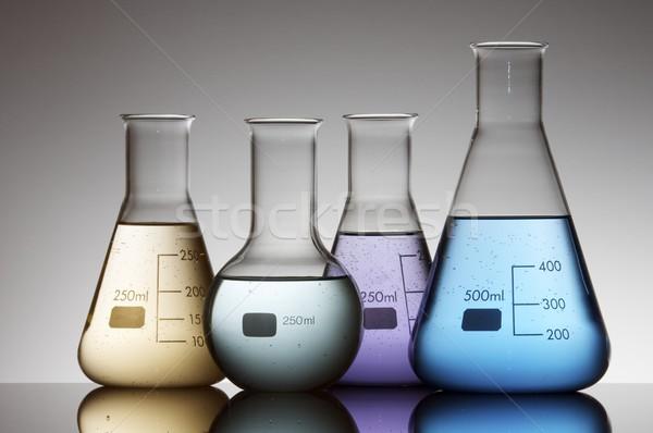 Cztery kolorowy płynnych biały szkła tle Zdjęcia stock © pedrosala