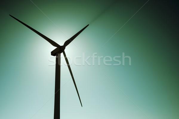 Wiatr energii wiatrak elektryczne produkcji Zdjęcia stock © pedrosala