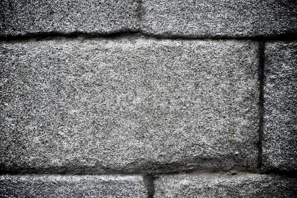 Granito grigio alto texture muro Foto d'archivio © pedrosala