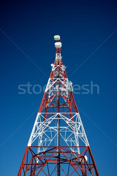 Telekomünikasyon kule mavi gökyüzü iş gökyüzü televizyon Stok fotoğraf © pedrosala