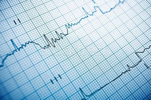 Elektrokardiogram papieru formularza medycznych serca Zdjęcia stock © pedrosala