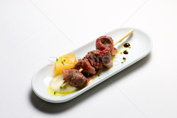 Skewer of beef. Stock photo © pedrosala