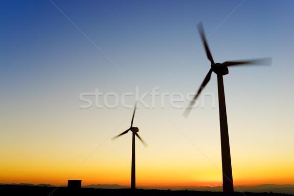 Vent énergie électriques pouvoir production la Photo stock © pedrosala