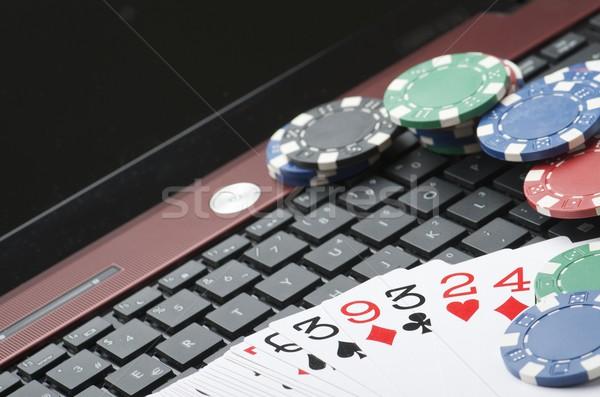 Foto d'archivio: Online · view · fiches · del · casinò · carte · Gamble · giocare