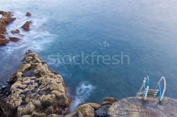 Madère mélancolie scène caillou plage île Photo stock © pedrosala