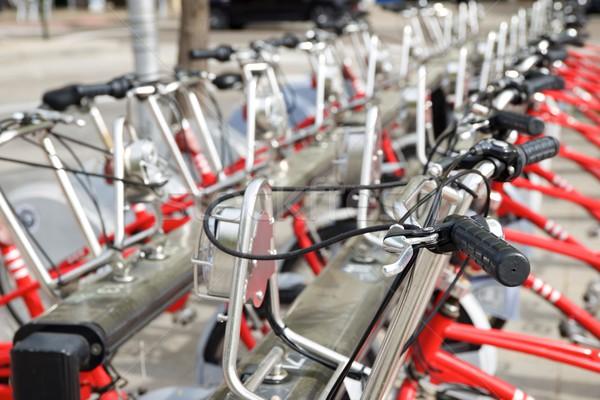 Stock photo: Rental bicycles view