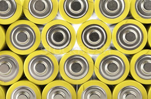 ストックフォト: グループ · 黄色 · 背景 · 生活 · 電源
