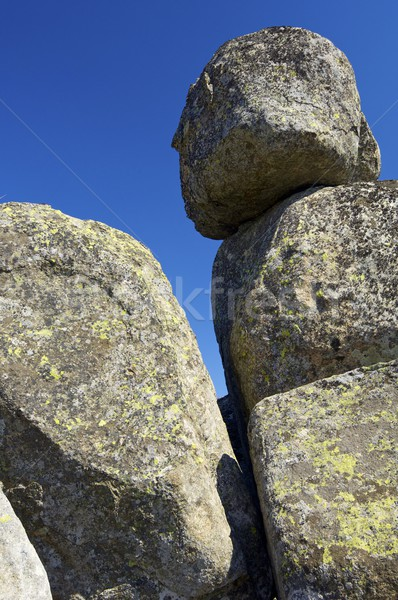 Rock formation and blue sky Stock photo © pedrosala