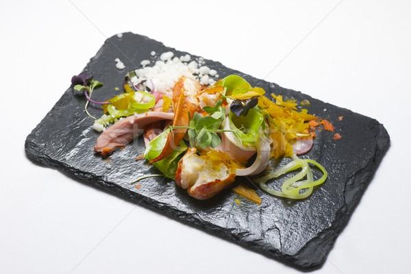 Salada de frango lagosta comida peixe restaurante vermelho Foto stock © pedrosala