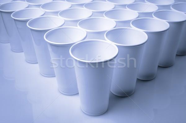 使い捨て 料理 白 プラスチック カップ ストックフォト © pedrosala