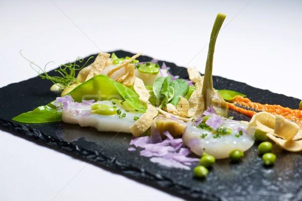 Marinato servito nero alimentare pesce cucina Foto d'archivio © pedrosala