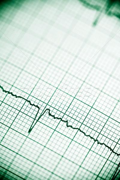 Eletrocardiograma papel forma coração corpo Foto stock © pedrosala