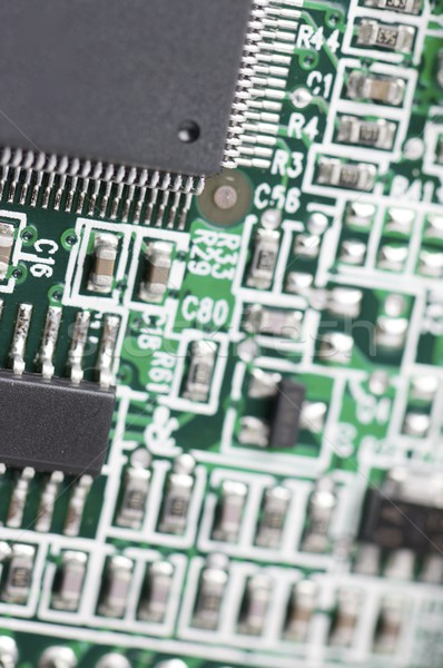 Integrado circuito ver verde computador Foto stock © pedrosala