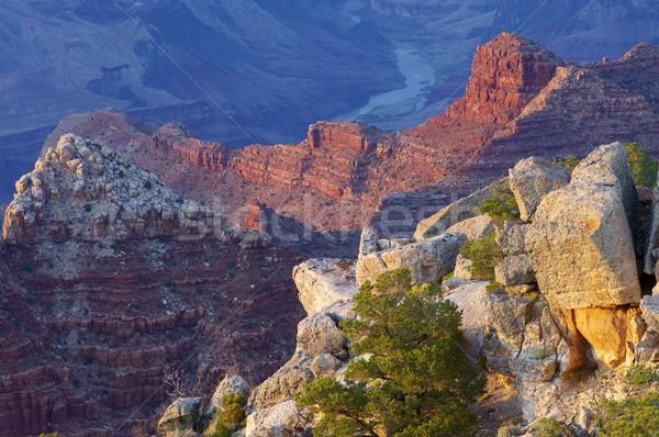 グランドキャニオン 公園 アリゾナ州 米国 雲 日没 ストックフォト © pedrosala
