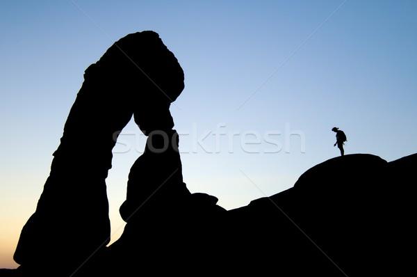 Delicate arch profile Stock photo © pedrosala