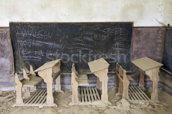 abandoned desks Stock photo © pedrosala