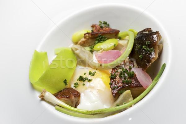 Foto stock: Huevo · alimentos · cocina · restaurante · verde · desayuno