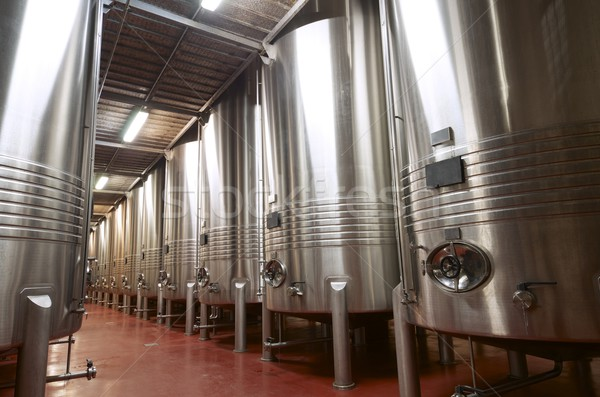 ワイナリー 巨大な 金属 発酵 ワイン 技術 ストックフォト © pedrosala