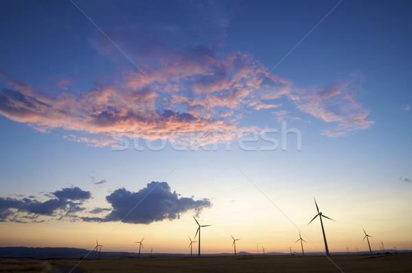 Grupy kolorowy niebo wygaśnięcia technologii dziedzinie Zdjęcia stock © pedrosala
