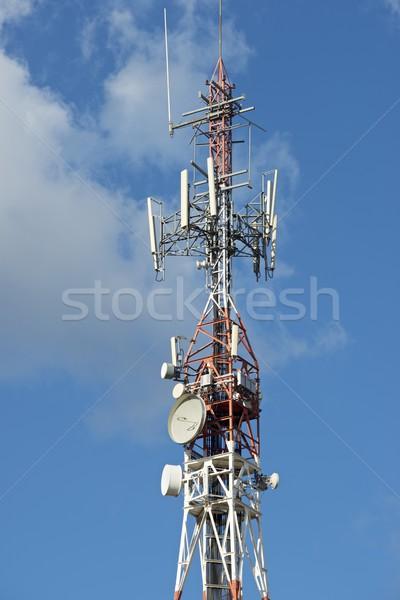 связь башни небе телевидение технологий Сток-фото © pedrosala