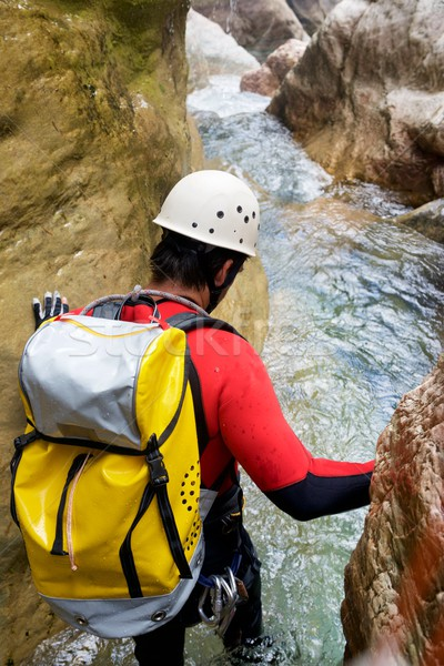 Stock photo: Canyoning in Spain