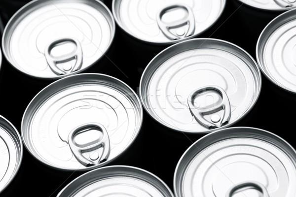 Primo piano gruppo alluminio sfondo cucina Foto d'archivio © pedrosala