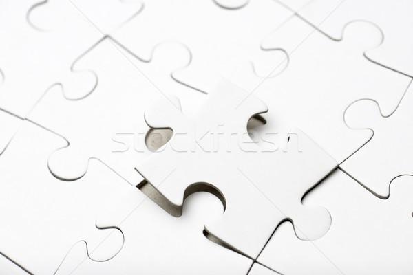 Puzzle közelkép darabok üzlet háttér kérdés Stock fotó © pedrosala