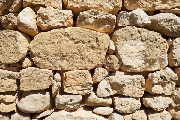 Muro di pietra rurale costruzione muro natura arte Foto d'archivio © pedrosala