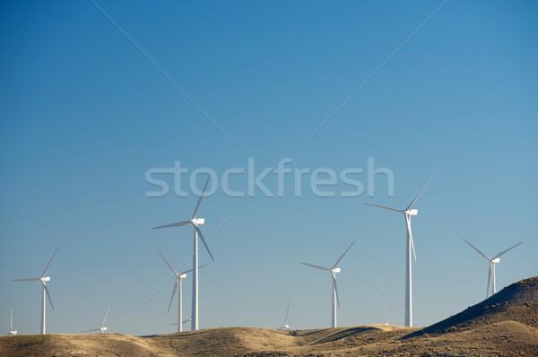 Wiatr energii elektryczne produkcji niebo Zdjęcia stock © pedrosala