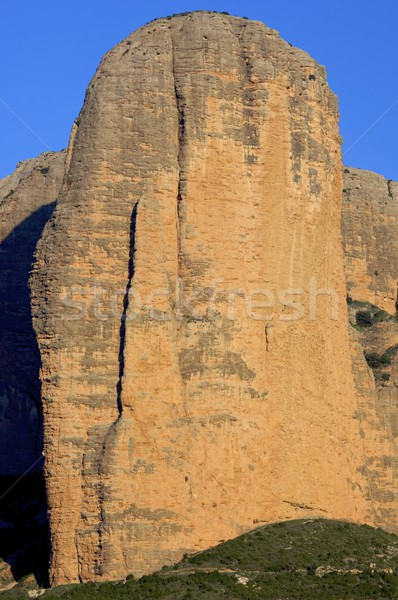 Stock photo: rock wall