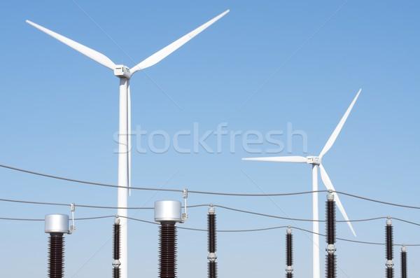 Szél energia elektromos erő gyártás elektomos Stock fotó © pedrosala