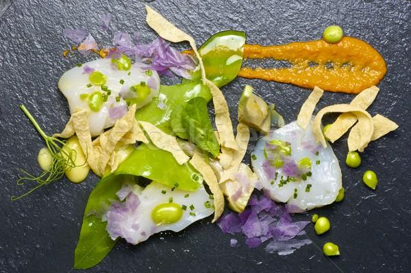 Marine hizmet siyah gıda mutfak restoran Stok fotoğraf © pedrosala