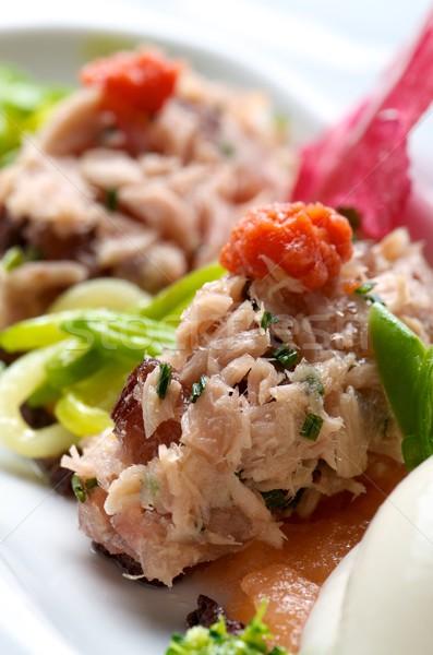 Antipasto tonno pomodoro verdura alimentare pesce Foto d'archivio © pedrosala