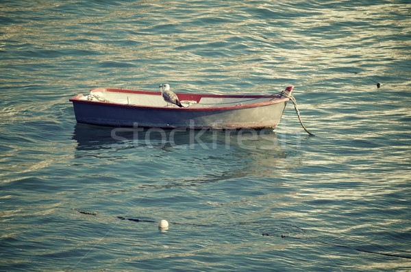 小 木製 ボート ビーチ ラ アンダルシア ストックフォト © pedrosala