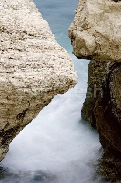 Küste Felsen Wasser Valencia Spanien Stock foto © pedrosala