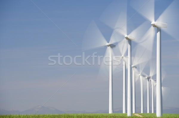 Vent énergie électriques pouvoir production ferme Photo stock © pedrosala