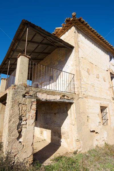 捨てられた 農村 建物 空 ホーム ウィンドウ ストックフォト © pedrosala