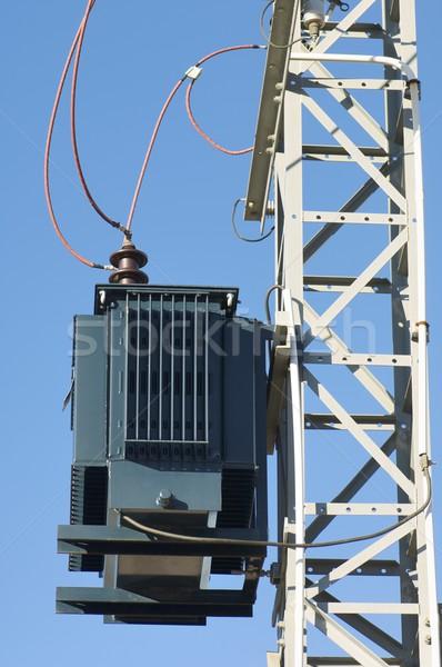 Elétrico transformador poder linha céu tecnologia Foto stock © pedrosala