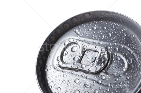 Soude aluminium peuvent eau boire rouge Photo stock © pedrosala